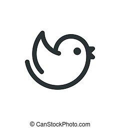 logo, dessin animé, oiseau