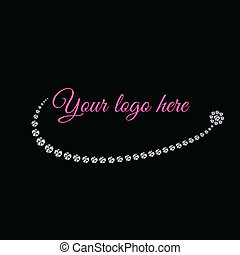 logo, diamant, charmant
