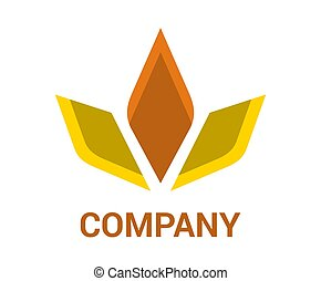logo, diamant, conception