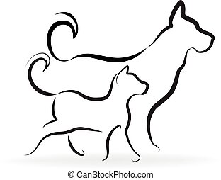 logo, dog, kat