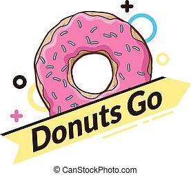 logo, donut., dynamique