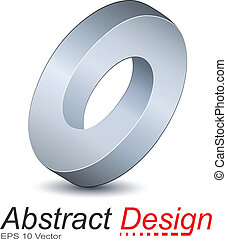 Logo ellipse, impossible vector object.
