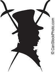 logo, dress-coat, vecteur, baron