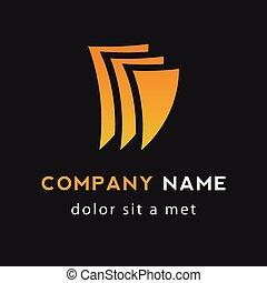 logo, driehoek, kleur, drie, kosteloos, gele, sinaasappel, illustrator