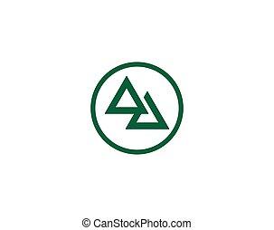 logo, driehoek, mal
