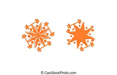 logo, duelighed, sol