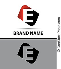 Logo e letter Vector illustration