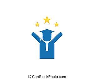 logo, education, conception, gabarit, gens
