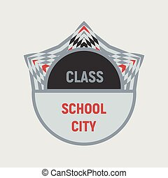 logo, education, emblème, gabarit