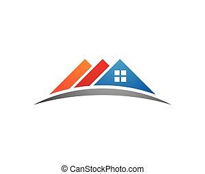 logo, egendom, skabelon