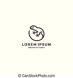 logo, eidechse, vektor, gecko