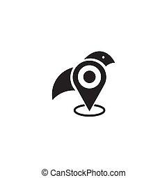 logo, eigendom, bedrijf, observeer vogels ontwerp, pictogram