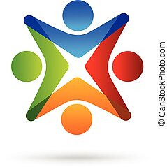 logo, einheit, gemeinschaftsarbeit