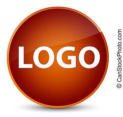 Logo elegant brown round button