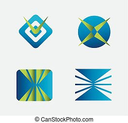 Logo element Business Icons Set