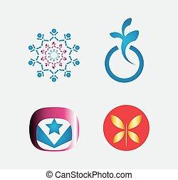 logo, elementer, sæt formgiv