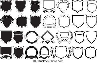 Logo Elements - Various shields and crests