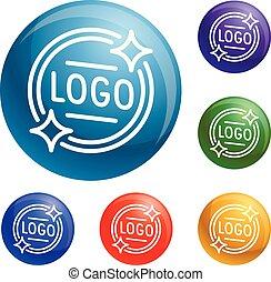 Logo emblem icons set vector