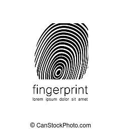 logo, empreinte doigt
