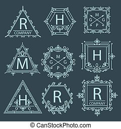 logo, ensemble, ornement