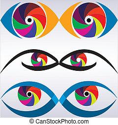Logo eye view photo