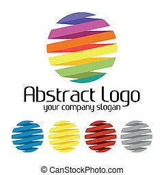 logo, färgrik, mall, skapande