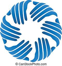 logo, företag, vektor, affärsverksamhet lämnar