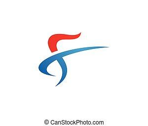 logo, f, lettre