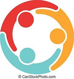 logo, familie, folk