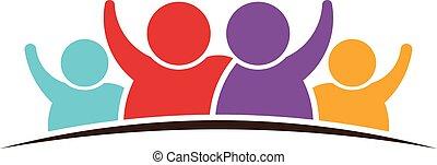 logo, familj, folk