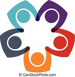 logo, famille, gens