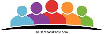 Logo family concept of union