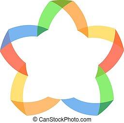 logo., farve, vektor, abstrakt