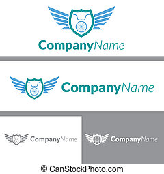 logo, fiets, ontwerp, brigade