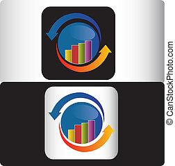 logo, financieel, zakelijk