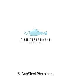 logo, fish, frit, restaurant
