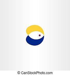 logo fish symbol icon vector element design sign