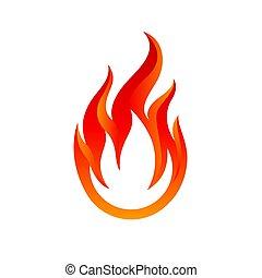 logo, flammes