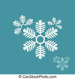 logo, flocons neige, conception