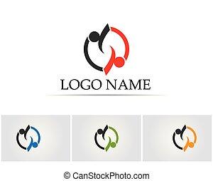 logo, folk, hälsa varsamhet