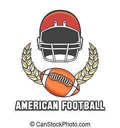 logo, football américain, emblème