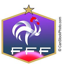 logo, football, club, francais