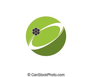 logo, football, conception, gabarit