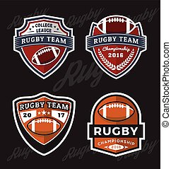 logo, football, rugby, gabarit