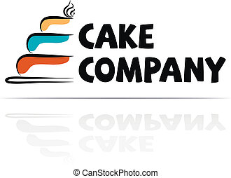 Logo for a cake company