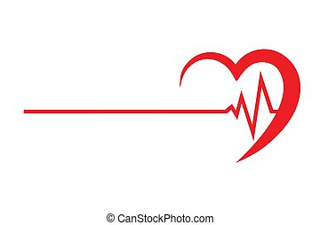 logo for a cardio clinic vector illustration isolated on...