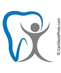 logo for a dental clinic vector illustration