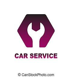 Logo for auto, car, repair service. Vector illustration.