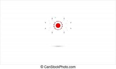 Logo for cyber vision, art video illustration.