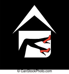 Logo for designer shoe or lingerie